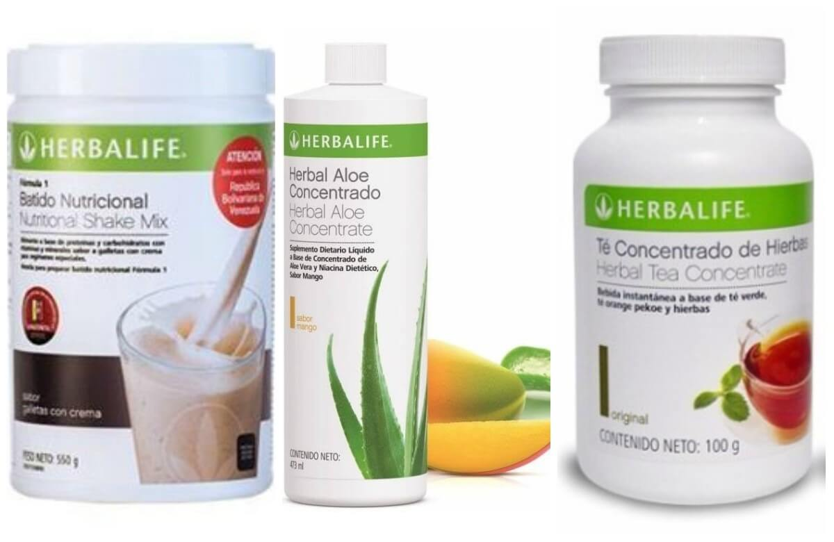 Suplementos nutricionales Herbalife mencionados en este articulo